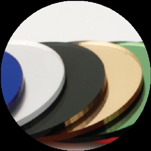 אקריל מראה בצבעים - מראות פוליסטירן